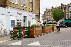 Deli Cafe, Temporary Structures, Public Realm, Street View, London, City, Heron, Uni, Design