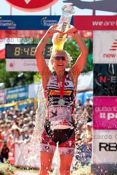 The best way to celebrate the topo position the finish line during 2012 Roth ETU Challenge Long Distance Triathlon European Championships.  #triathlon #challengefamily #roth
