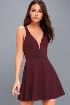 #NewYear #Lulus - #Lulus Love Galore Plum Purple Skater Dress - Lulus - AdoreWe.com