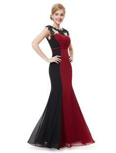 HE09996RD18,18UK,Red,Ever Pretty Long Party Dresses Women 09996