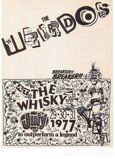 WEIRDOS @ The Whisky in Hollywood, CA 1977 by Superbawestside1980, via Flickr