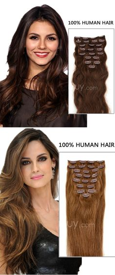 Dreaming for this hair? Add length and volume in minutes! Clip In Hair Extensions help u realize it,easy wear!!