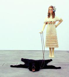 marc fromm, Mäda with pet, Lindenholz, Stahl, Bärenfell, 2013 200cm x 170cm x 250cm Taxidermy, People, Dresses, Fashion, Art, Gowns, Moda, La Mode, Dress