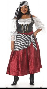 Plus Size Pirate Wench Adult Costume