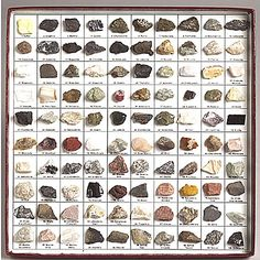 One of the ways my dad and I bond: nerd out identifying rocks and minerals he finds at Fort Knox. (: