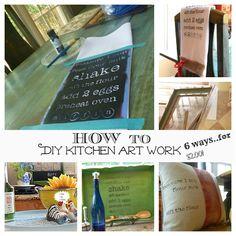 diy kitchen art work