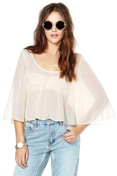 Nasty Gal Cunning Attraction Crop Top