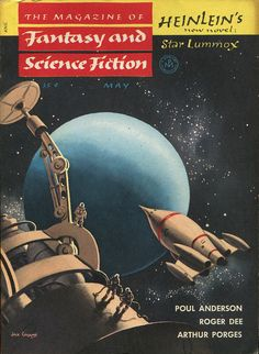scificovers:  Magazine of Fantasy and Science Fiction May 1954. Cover by Jack Coggins.
