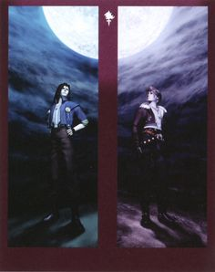 Laguna Loire and Squall Leonhart. Final Fantasy VIII