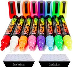 Chalk Markers by Vegas Wand with 8 Neon Wands and 2 Ink Erasers *** You can find more details by visiting the image link.Note:It is affiliate link to Amazon. #florida