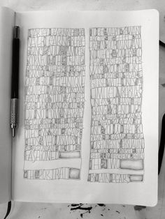 """Amity Parks, sketchbook. Quote on mastery of skills from a novel by Iain Pears called 'The Portrait""""."""