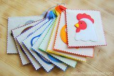 """textileinterior: Радужные карточки """"Животные"""""""