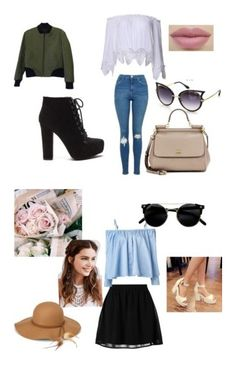 love by eulalia-323 on Polyvore featuring moda, rag & bone, Topshop, Dolce&Gabbana, even&odd, Sandy Liang, Pastel Pairs, Steve Madden and REGALROSE