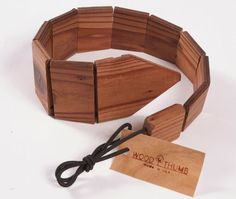 """Wood tie.  Story behind it.  Check out the site.  This is also one of """"Mottainai"""" campaign."""