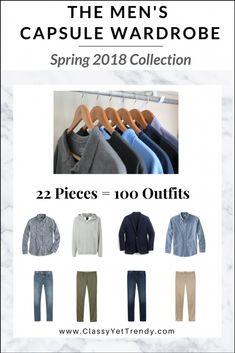 6fae027085a92a Menswear Capsule Wardrobe Spring 2018 eBook Capsule Wardrobe Men