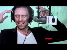 (Cant watch at the moment, for later) Tom Hiddleston does really good impressions of Alan Rickman, Owen Wilson, a velociraptor, Chris Evans, Orson Welles, Samuel L. Jackson, and Joey the War Horse. This man is awesome!