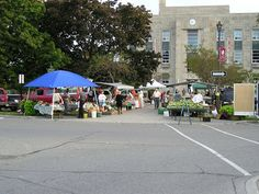 The Goderich Farmers' Market in downtown Goderich, Ontario, 2007.
