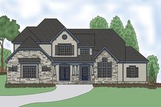 House Plan 75306 | Craftsman Traditional Plan with 4388 Sq. Ft., 4 Bedrooms, 6 Bathrooms, 3 Car Garage