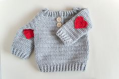 Crochet baby cardigan red hearts Ideas for 2019 Crochet Baby Sweater Pattern, Crochet Baby Sweaters, Gilet Crochet, Baby Sweater Patterns, Crochet Baby Clothes, Knitted Baby Blankets, Crochet Cardigan, Baby Patterns, Baby Knitting