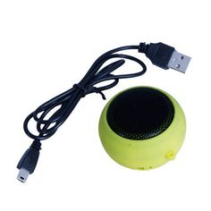 Yellow-green Hamburger Mini Speaker by Crazy Cart. $3.68. Features: 1. Pioneering patented technology: extendable   resonance of the bass box technology enables ber effect 2. Standard   3.5mm audio plug ,apply with all music player and digital products 3. New   concept integrative portable mini speaker with small bulk,  can be played on the   centre of the palm  4. Using high-fidelity loudspeakers ,the alt exported   more cheer ,the bass more pure and ber 5. Embedde...