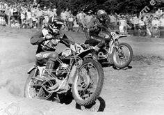 NNC MC A 034   Moto Cross Des Nations 2.9.1973 Wohlen Switzerland, No. 12 Jimmy Aird (CCM) No. 40 Mike Hartwig USA (Husqvarna)   Keywords: Action, Mortons Archive, Mortons Media Group Ltd, Moto Cross, Nick Nicholls, Off road