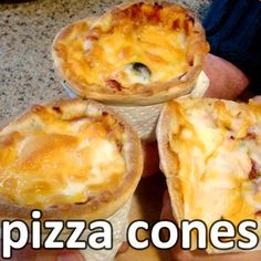 Pizza in a cone! Portable, personalized, plentiful pizza cones! Make you own pizza cones at home with this fun and simple food hack. Using an empty aluminum drink...