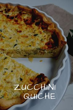 Zucchini Quiche, Quiche Vegan, Strudel, Dough Recipe, How To Stay Healthy, Easy Meals, Food And Drink, Veggies, Pizza