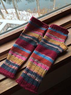 Darling mitts - from sock yarn