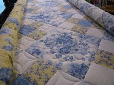 Summer Breezes quilt in progress...simple 9P with simple quilting made a stunning quilt