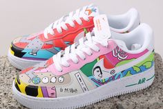 Air Force 1, Nike Air Force, White Leather, White Lace, Custom Shoes, Blues, Sneakers Nike, Brand New, Yellow