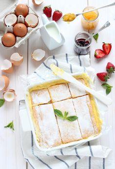 Tarta semi-helada de hojaldre y crema pastelera