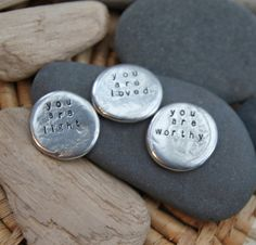 These little talismans are reminders for you to carry with you on your journey.