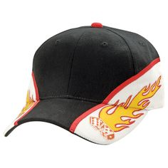 Code: 4312 Name: Flaming Dice Cap 4312 Available Colours: Black/White/Red Description: Hot on and off the tables, the Flaming Dice spells €œwinner€?. Embroidere