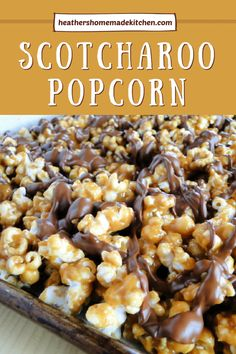 Fun Desserts, Delicious Desserts, Yummy Food, Tasty, Candy Recipes, Sweet Recipes, Sweet Popcorn Recipes, Cobbler, Brownies