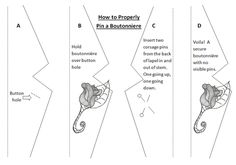 - How to PROPERLY Pin a Boutonniere