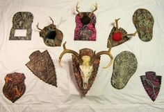 Camo dipped taxidermy plaques make great displays for any buck shot this hunting season! From first bucks to trophy bucks, our antler plaques, photo plaques and European mount plaques are the perfect way to remember and display your successful hunt! With 14 different dipping patterns to choose from, we are sure to have just the one for you!