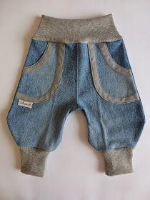 Heute ohne viele Worte eine Frida-Jeans in neutralen Farben, damit sie zu allem kombiniert werden kann. Der Jeansstoff stammt von einer alte...