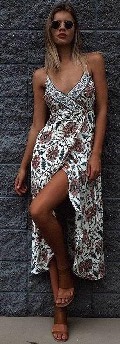 #summer #mishkahboutique #outfits | Floral Wrap Dress