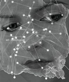 by Richard Burbridge Richard Burbridge, Rubrics, Veil, Pearl Necklace, Pearls, Photography, Inspiration, Jewelry, Art