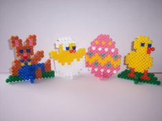 Easter ornaments hama perler by les-anges-geek
