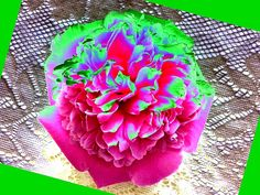 A colorful bordered abstract peony design presented as a digital painting- terrific as a decorative art print or multi-purpose greeting card.