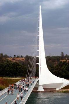 Sundial Bridge, Redding, Calif., designed by Santiago Calatrava. (Associated Press)
