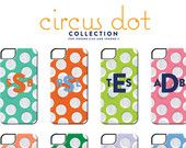 Monogrammed Samsung Galaxy and iPhone Case - Circus Dot Collection