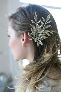 Just Lovely Things | Glitter Foliage Clip |