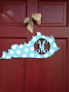 State Monogram Door Hanger on BourbonandBoots.com #kentucky #monogram