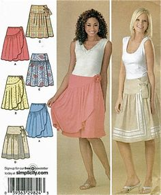 SKIRT Sewing Pattern - Misses Knit & Woven PLUS SIZE Skirts Sizes 14-22