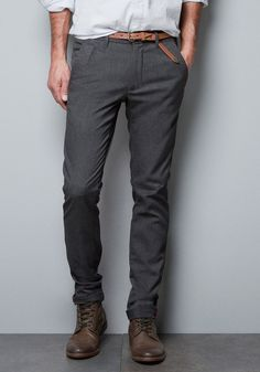 Gray Fabric Pants