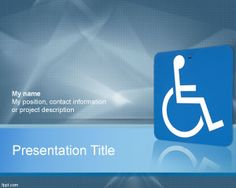 Disabilities PowerPoint template background for accessibility PowerPoint presentations