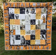 Teamed up with J. Wecker Frisch, designer of 'Sew Scary' fabric, to make this quilt. It's now in the September 2015 issue of American Quilter magazine with instructions on how to make your own!