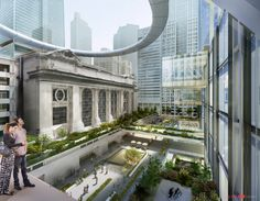Rendering of Grand Central Station by SOM